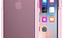 tech21 Evo Check Case for iPhone X – Rose Tint/White