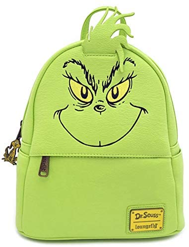 Loungefly The Grinch Faux Leather Mini Backpack