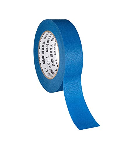 TapeManBlue Blue Painters Tape, 1.5 inch x 60 Yards, Case of 32 Rolls, Made in USA