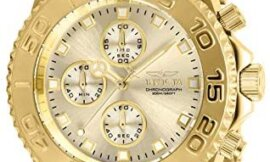 Invicta Men's Connection Quartz Watch with Stainless Steel Strap, Gold, 22 (Model: 28683)