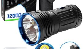 Olight X7R 12000 Lumens USB Rechargeable Flashlight for Camping,Hunting,Searching,with 4 X 18650 Rechargeable Batteries (Built-in)