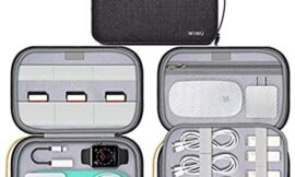Electronic Organizer Travel Cable Bag Accessories Portable Pouch Bag for Pencil Hard Drives Cable Charger Phone USB SD Card Black