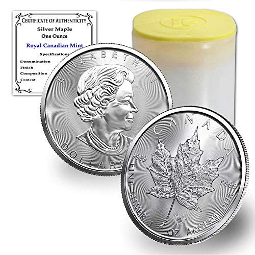Read more about the article CA 2021 Lot of (10) 1 oz Silver Canadian Maple Leaf Coins Brilliant Uncirculated with our Certificates of Authenticity by CoinFolio BU