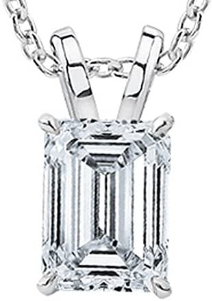 Read more about the article 1/2-2 Carat 14K White Gold GIA Certified Emerald Cut Diamond Pendant Necklace Luxury Collection (D-E Color, VS1-VS2 Clarity)