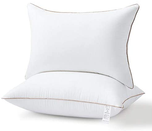 Read more about the article OVX Pillows for Sleeping Set of 2 Hypoallergenic Gel Hotel Pillows, Down Alternative -High Great Support for Side/Back Sleeper–Standard