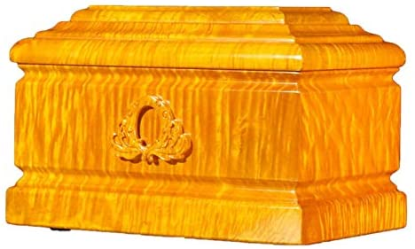 Read more about the article Wooden Urns for Human Ashes Adult, Funeral Urns Urns for Human Ashes, Adult Cremation Urns Keepsake jar, Suitable Home Place or Burial (Gold Wire Nanmu), Two Human Size Together Forever Love