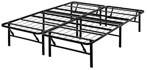Read more about the article Mainstay 14″ High Profile Foldable Steel Bed Frame, Powder-Coated Steel (Black, Full)