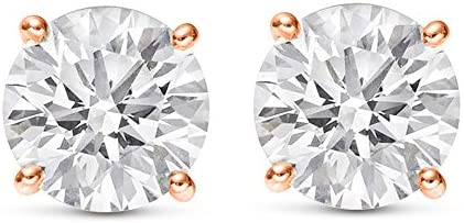 Read more about the article 1/4-2 Carat Total Weight Round Diamond Stud Earrings 4 Prong Push Back (H-I Color SI2-I1 Clarity)