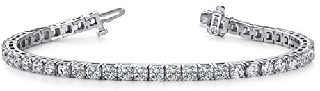 Read more about the article 14K White Gold Diamond Tennis Bracelet 4 Prong Luxury Collection (H/I Color VS1/VS2 Clarity)