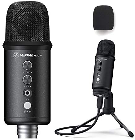 Read more about the article MIRFAK USB Desktop Microphone, Condenser Computer PC Mic with Tripod Stand Compatible with iOS/Windows/Android/Linux for Recording, Podcasting, Streaming, Gaming, YouTube