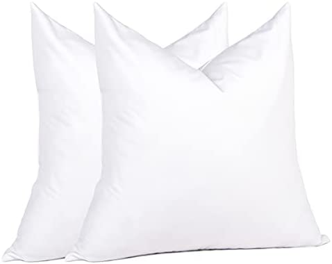 Read more about the article Puredown Euro Pillow Inserts 26 x 26 Set of 2, Down Feather Pillow Stuffer, Premium White Cotton Fabric for Bed, Couch, and Cushion
