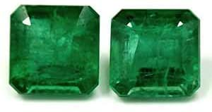 Read more about the article GemsNY 2.33 cttw. Natural Emerald Emerald Cut Matched Pair