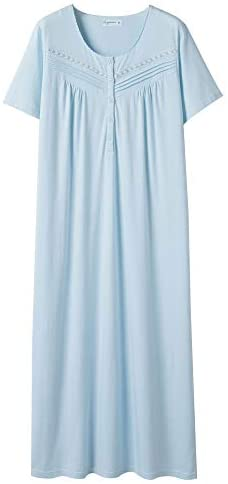 Read more about the article Keyocean Nightgowns for Women, 100% Cotton Soft Lightweight Comfy Sleepwear Lounge-wear