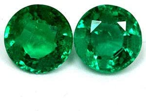 Read more about the article GemsNY 1.54 cttw. Natural Emerald Round Matched Pair