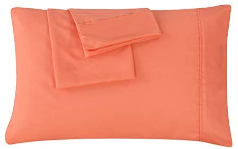 Read more about the article AYASW King Size Pillowcases Microfiber 2 Piece Set Envelope Closure Coral 20×40 inches