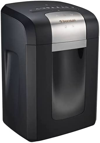 Read more about the article Bonsaii 120-Minute Heavy-Duty 14-Sheet Cross-Cut Paper Shredder, CD and Credit Card Shredder Machine with Jam Proof System, 6-Gallon Pullout Wastebasket and Transparent Window, Black (3S23)