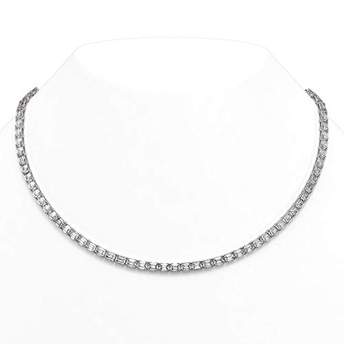 Read more about the article 35.5 ctw Emerald Cut Diamond Rare Necklace 18K