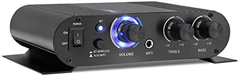 Read more about the article Wireless Bluetooth Home Audio Amplifier – 90W Dual Channel Mini Portable Power Stereo Sound Receiver w/ Speaker Selector, RCA, AUX, LED, 12V Adapter – For iPad, iPhone, PA, Studio Use – Pyle PFA330BT