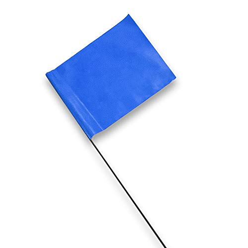Read more about the article Blue Marking Flags 100 Pack – 4 x 5-Inch Flag on 15-Inch Steel Wire – Marker Flags for Irrigation, Sprinkler Flags, Lawn Flags, Yard Flags, Garden Flags, Dog Training, Invisible Fence