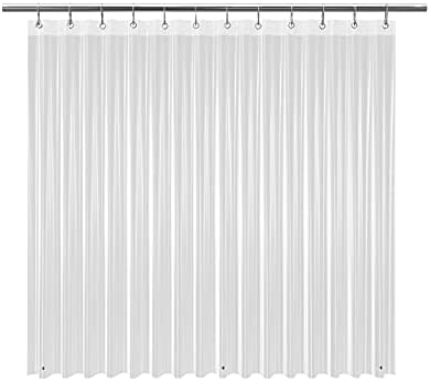 Read more about the article EHZNZIE Shower Curtain Liner Light Weight PEVA 4G , Waterproof, No Chemical Smell with 12 Rust Proof Metal Grommets for Bathroom Shower-72×72 Inches (Clear)