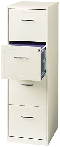 Read more about the article Office Dimensions 18″ Deep 4 Drawer Vertical File Metal File Cabinet, Letter-Sized, Pearl White