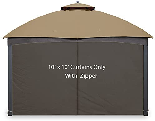 Read more about the article Gazebo Universal Replacement Privacy Curtain – Gafrem Canopy Panel Side Wall fits 10ft Gazebos (Brown, 10×10 feet)