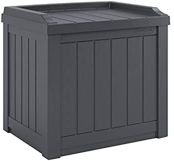 Read more about the article Suncast SS601C 22.5″ x 17″ x 22.5″ 22 Gallon Outdoor Small Deck Box with Storage Seat and Reinforced Lid for Backyard or Patio in Cyberspace