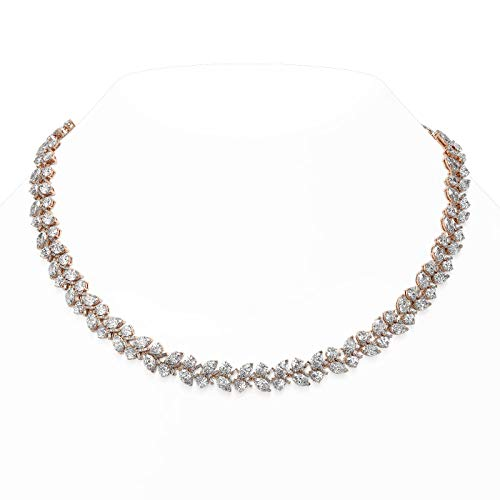 Read more about the article 56 ctw Marquise and Pear Cut Diamond Necklace 18K