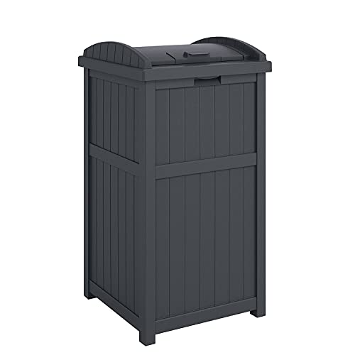 Read more about the article Suncast GH1732C 15.75″ x 16″ x 31.6″ Trashcan Hideaway Outdoor Commercial 33 Gallon 31.6″ Resin Garbage Waste Bin with Lid in Cyberspace for Garage