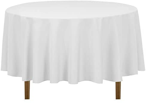 Read more about the article LinenTablecloth 90-Inch Round Polyester Tablecloth, White