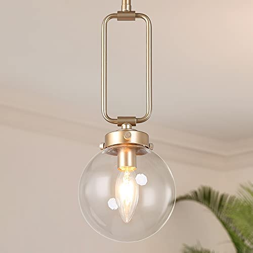Read more about the article Optimant Lighting Modern Glass Globe Pendant Light, Gold Hanging Orb Lighting Fixture for Kitchen Island, Dining Room, Living Room, Entryway, Hallway, and Bedroom