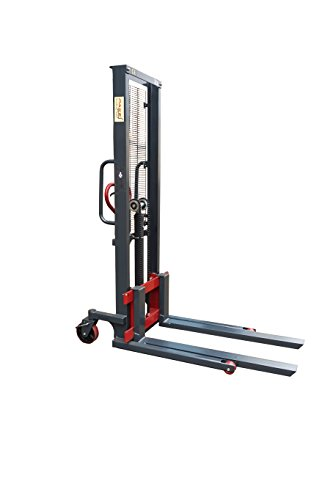 Read more about the article Pake Handling Tools Manual Stacker Hand/Foot Pump Lift Truck – Compact and Easy to Use Hydraulic Lift – 2200 lbs Capacity for Skid/Single Sided Pallet