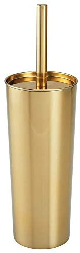 Read more about the article mDesign Slim Compact Stainless Steel Toilet Bowl Brush and Holder for Bathroom Storage – Sturdy, Deep Cleaning – Soft Brass