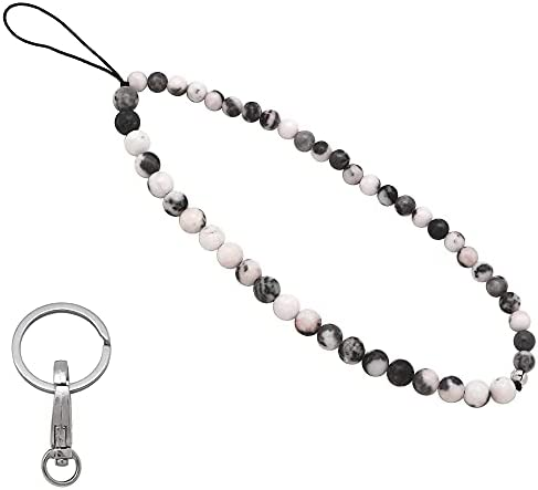 Read more about the article Beaded Phone Charm Cell Phone Lanyard Wrist Strap Handmade Natural Gemstone Beads Phone Keychain Charm String