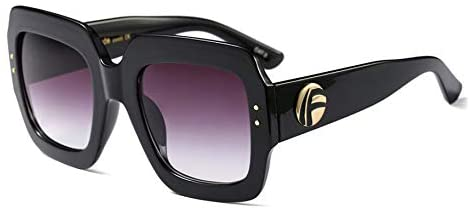 Read more about the article FEISEDY Oversized Square Sunglasses Multi Tinted Glitter Frame Stylish Inspired B2276