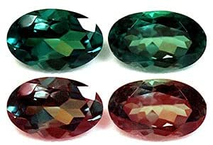Read more about the article GemsNY 0.67 cttw. Natural Alexandrite Oval Matched Pair