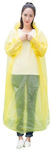 Read more about the article HTDBKDBK Durable Disposable Rain Ponchos, Adults Emergency Waterproof Raincoat with Hood for Camping, Hiking, Sport or Outdoors, Unisex (Yellow)