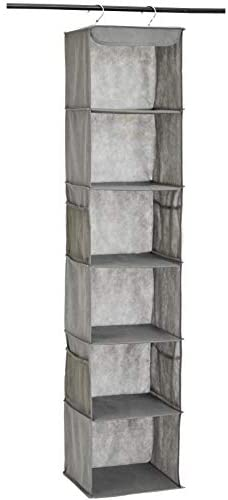 Read more about the article Amazon Basics 6-Tier Hanging Closet Shelf Organizer With Pockets