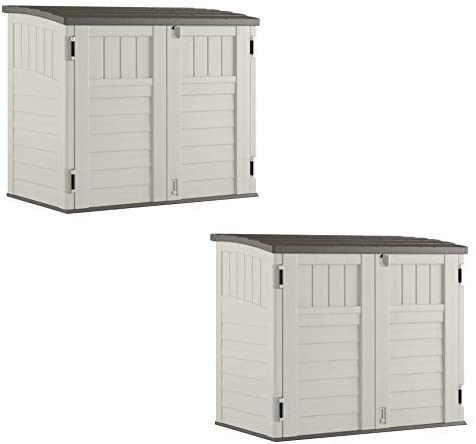 Read more about the article Suncast 34 CU Durable Resin Horizontal Storage Shed w/Reinforced Floor (2 Pack)