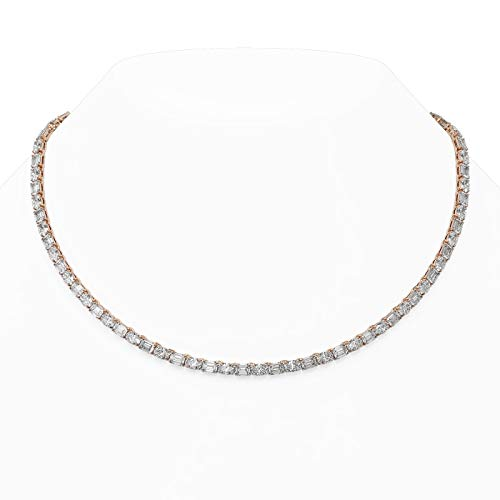 Read more about the article 36 ctw Emerald and Oval Cut Diamond Necklace 18K
