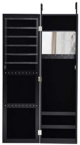 Read more about the article Giantex Jewelry Armoire Cabinet Wall Door Mounted with Full Length Mirror, Jewelry Organizer with Makeup Mirror, Ring Earring Slots, Necklace Hooks, Large Capacity Storage Jewelry Armoire (Black)