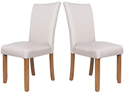 Read more about the article soges Fabric Dining Chairs 2 Pack Modern Dining Room Side Chairs with Solid Wood Legs Light Beige,WH-1069