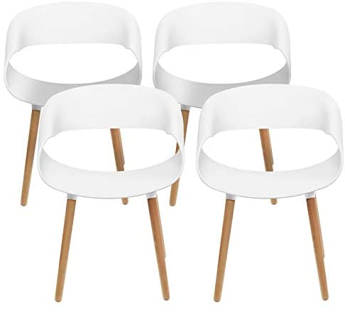 Read more about the article Magshion 4 Count Streamline Design Kitchen Lounge Plastic Side Dining Chair
