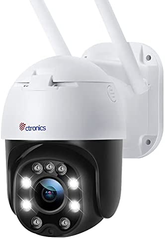 Read more about the article [4X Optical Zoom] Security Camera PTZ Outdoor, Ctronics Spotlight Color Night Vision WiFi Wireless Surveillance Camera 1080P Pan Tilt for Home Security with Human Detection Auto Tracking