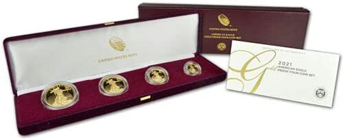 Read more about the article 2021 W 21EF American Eagle 2021 Gold Proof Four-Coin Set – UNOPENED! in Box!
