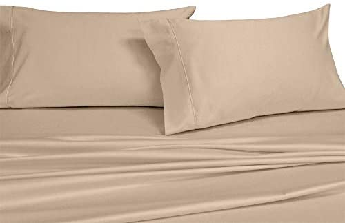 Read more about the article Royal's Solid Tan / Linen 250-Thread-Count Pair / 2pc King Pillowcases Set 100-Percent Cotton, Superior Percale Weave, Crispy Soft, Pillow cases, 100% Cotton