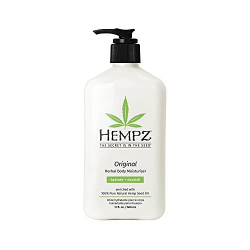 Read more about the article Hempz Original, Natural Hemp Seed Oil Body Moisturizer with Shea Butter and Ginseng, 17 Fl Oz, Pure Herbal Skin Lotion for Dryness – Nourishing Vegan Body Cream in Floral and Banana