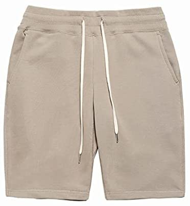 Read more about the article WXYPP Men's Soft Cotton Knit Shorts Sports and Leisure Sweatpants are Loose Comfortable (Color : Khaki, Size : S)