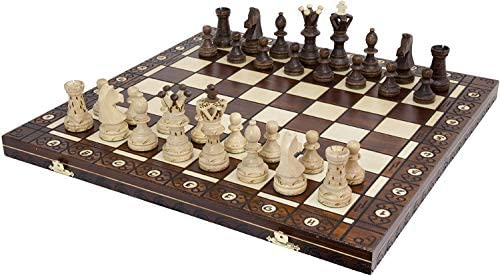 Read more about the article Handmade Chess Set European Ambassador with 21 Inch Board and Hand Carved Chess Pieces WEGIEL