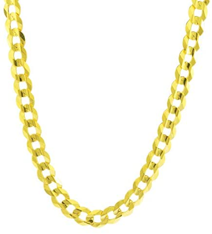 Read more about the article Nuragold 10k Yellow Gold 8mm Solid Cuban Curb Link Chain Necklace, Mens Jewelry Lobster Lock 20″ 22″ 24″ 26″ 28″ 30″